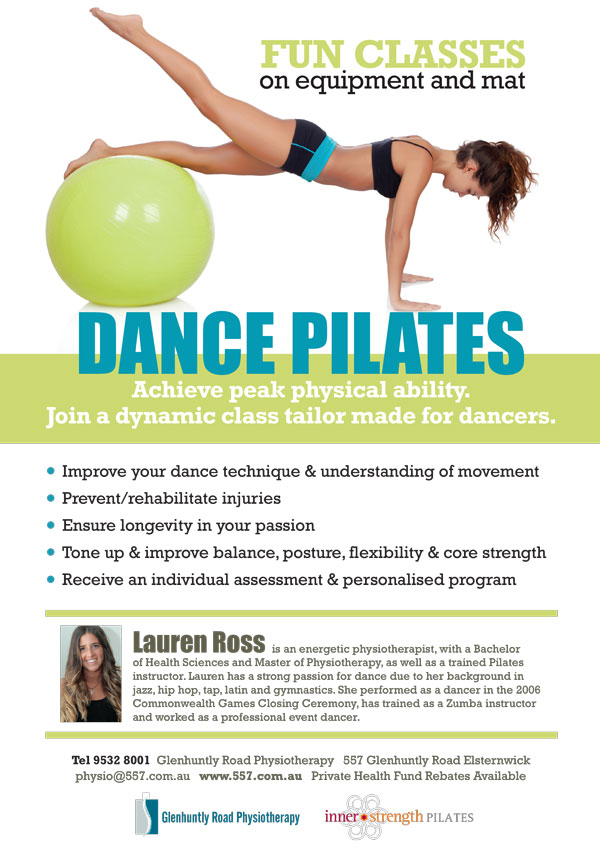 Melbourne Dance Pilates - Glenhuntly Rd Health Clinic - Dancer Injury Prevention - Tone - Strengthen -